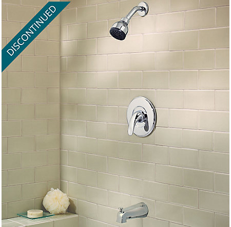 Polished Chrome Serrano 1-Handle Tub & Shower, Trim Only - R89-8SRC - 2