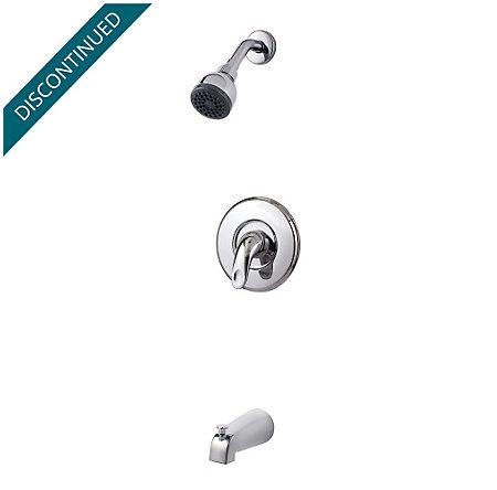 Polished Chrome Serrano 1-Handle Tub & Shower, Trim Only - R89-8SRC - 1