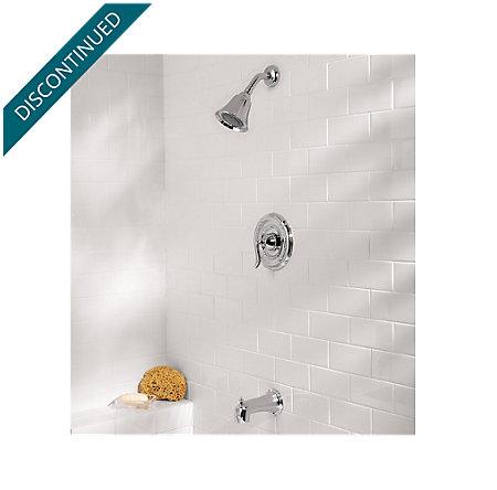 Polished Chrome Santiago 1-Handle Tub & Shower, Trim Only - R89-8STC - 2