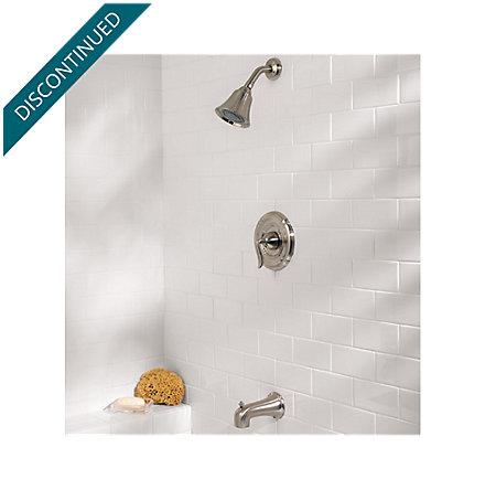 Brushed Nickel Santiago 1-Handle Tub & Shower, Trim Only - R89-8STK - 2