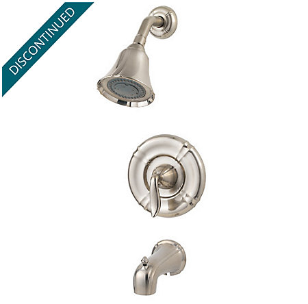 Brushed Nickel Santiago 1-Handle Tub & Shower, Trim Only - R89-8STK - 1