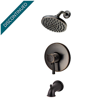 Tuscan Bronze Pfister Series 1-Handle Tub & Shower, Trim Only - R89-8TUY - 1