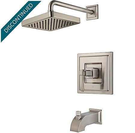 Brushed Nickel Carnegie 1-Handle Tub & Shower, Trim Only - G89-8WEK - 1