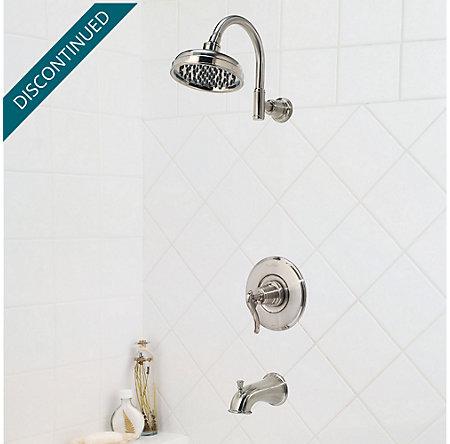 Brushed Nickel Ashfield 1-Handle Tub & Shower, Trim Only - R89-8YPK - 2