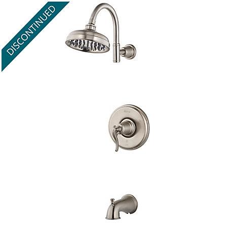 Brushed Nickel Ashfield 1-Handle Tub & Shower, Trim Only - R89-8YPK - 1