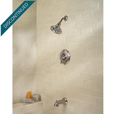 Brushed Nickel Portola 1-Handle Tub & Shower, Trim Only - R89-8RPK - 4