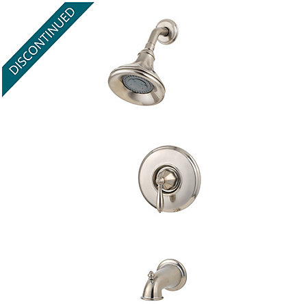 Brushed Nickel Portola 1-Handle Tub & Shower, Trim Only - R89-8RPK - 3