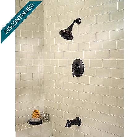 Tuscan Bronze Portola 1-Handle Tub & Shower, Trim Only - R89-8RPY - 4
