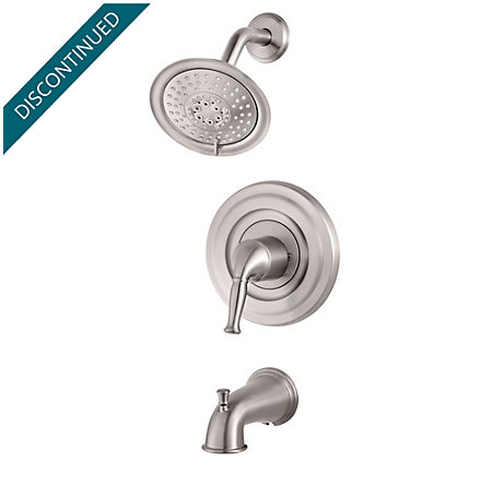 Brushed Stainless Steel Universal 1-Handle Tub & Shower, Trim Only - R90-TD1K - 1