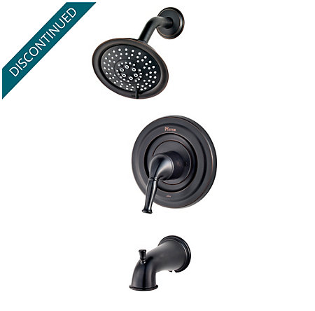 Tuscan Bronze Universal 1-Handle Tub & Shower, Trim Only - R90-TD1Y - 1