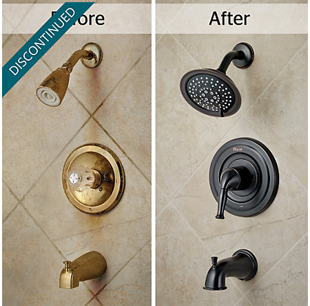 Tuscan Bronze Universal 1-Handle Tub & Shower, Trim Only - R90-TD1Y - 3