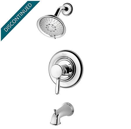 Polished Chrome Universal 1-Handle Tub & Shower, Trim Only - R90-TD2C - 1