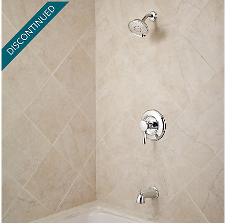 Polished Chrome Universal 1-Handle Tub & Shower, Trim Only - R90-TD2C - 2
