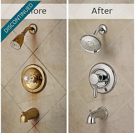 Polished Chrome Universal 1-Handle Tub & Shower, Trim Only - R90-TD2C - 3