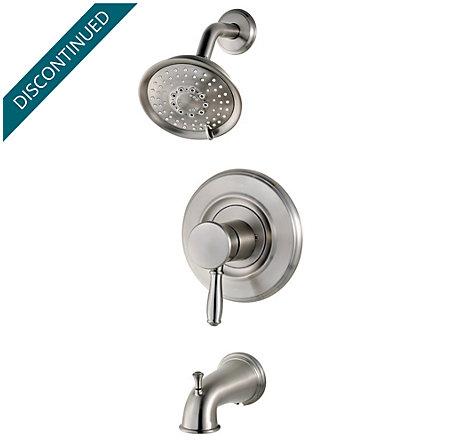 Brushed Stainless Steel Universal 1-Handle Tub & Shower, Trim Only - R90-TD2K - 1