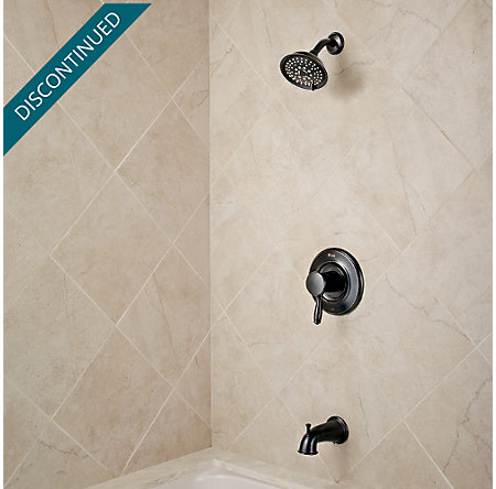 Tuscan Bronze Universal 1-Handle Tub & Shower, Trim Only - R90-TD2Y - 2