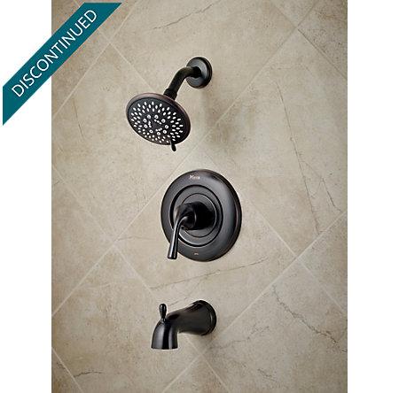 Tuscan Bronze Universal 1-Handle Tub & Shower, Trim Only - R90-TN1Y - 2