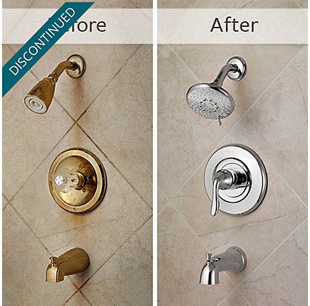Polished Chrome Universal 1-Handle Tub & Shower, Trim Only - R90-TN2C - 3