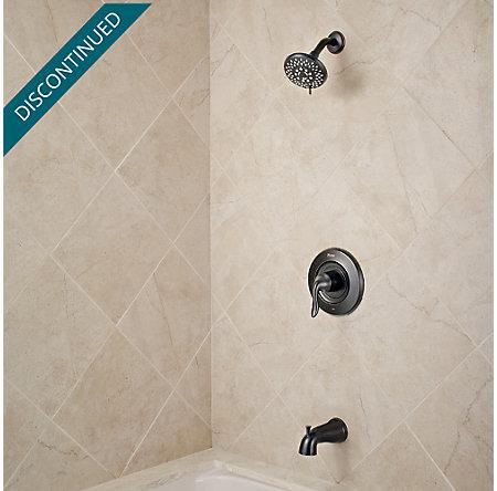 Tuscan Bronze Universal 1-Handle Tub & Shower, Trim Only - R90-TN2Y - 2