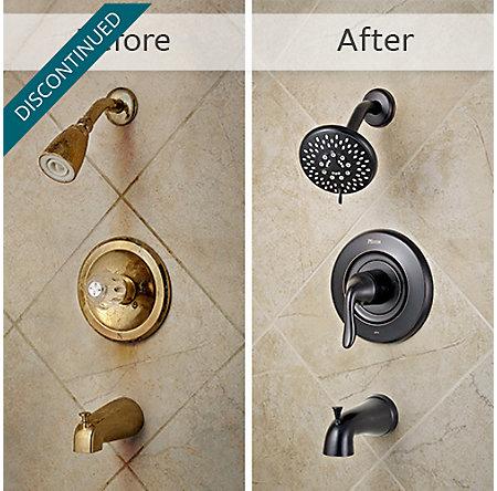 Tuscan Bronze Universal 1-Handle Tub & Shower, Trim Only - R90-TN2Y - 3