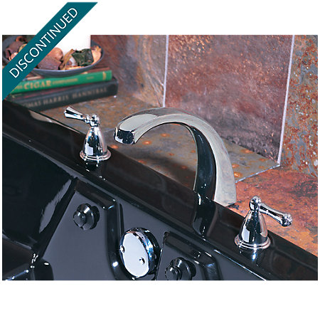 Polished Chrome Parisa 3 Hole Roman Tub - RT6-A0XC - 3