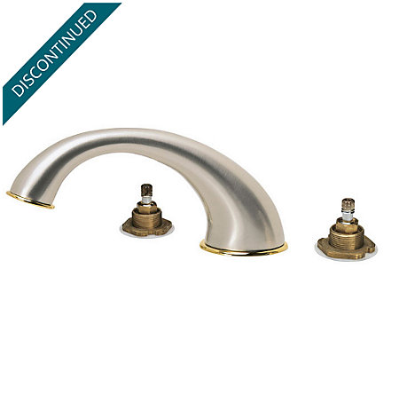 Brushed Nickel / Polished Brass Georgetown 3 Hole Roman Tub - RT6-BPXK - 1