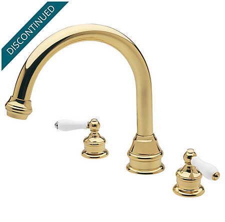 Polished Brass Savannah 3 Hole Roman Tub - RT6-H0XP - 1