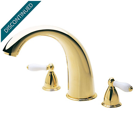 Polished Brass Carmel 3 Hole Roman Tub - RT6-J0XP - 1