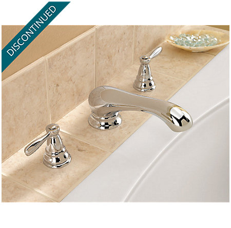 Polished Chrome Portland 3 Hole Roman Tub - RT6-P0XC - 4