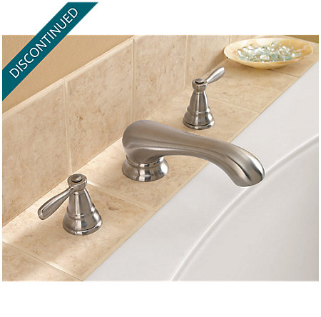 Brushed Nickel Portland 3 Hole Roman Tub - RT6-P0XK - 4