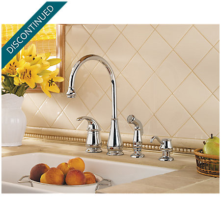Polished Chrome Treviso 1-Handle Kitchen Faucet - T26-4DCC - 2