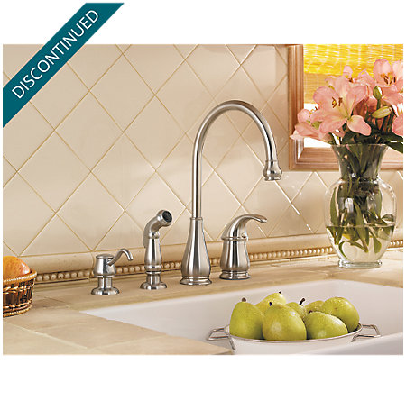Stainless Steel Treviso 1-Handle Kitchen Faucet - T26-4DSS - 4