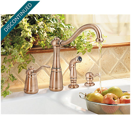 Antique Copper Marielle 1-Handle Kitchen Faucet - T26-4NRR - 2