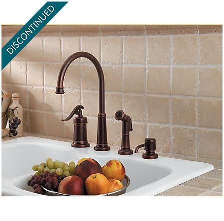 Rustic Bronze Ashfield 1-Handle Kitchen Faucet - T26-4YPU - 2