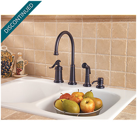 Tuscan Bronze Ashfield 1-Handle Kitchen Faucet - T26-4YPY - 2