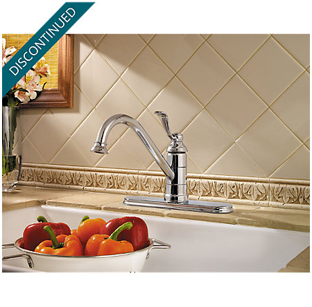 Polished Chrome Portland 1-Handle Kitchen Faucet - T34-1PC0 - 3