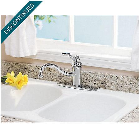 Polished Chrome Marielle 1-Handle Kitchen Faucet - T34-1TCC - 2