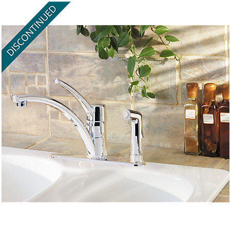 Polished Chrome Parisa 1-Handle Kitchen Faucet - T34-3NCC - 2
