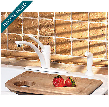 White Parisa 1-Handle Kitchen Faucet - T34-4NWW - 3