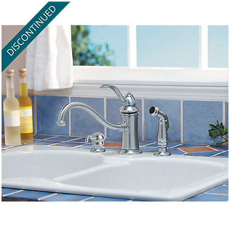 Stainless Steel Marielle 1-Handle Kitchen Faucet - T34-PTSS - 2