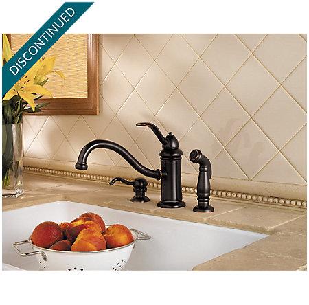 Tuscan Bronze Marielle 1-Handle Kitchen Faucet - T34-PTYY - 2