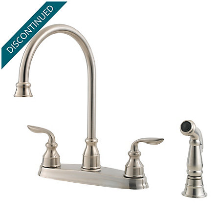 Stainless Steel Avalon 2-Handle Kitchen Faucet - T36-4CBS - 1