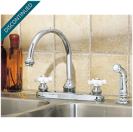 Polished Chrome Savannah 2-Handle Kitchen Faucet - T36-5CPC - 3
