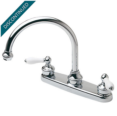 Polished Chrome Savannah 2-Handle Kitchen Faucet - T36-84PC - 1