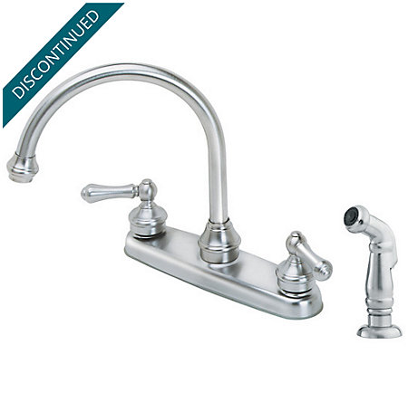 Stainless Steel Savannah 2-Handle Kitchen Faucet - T36-85SS - 1