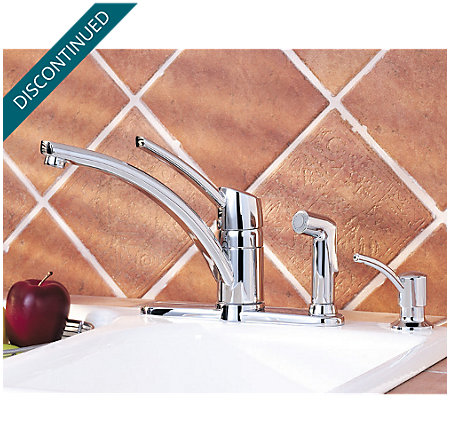 Polished Chrome Parisa 1-Handle Kitchen Faucet - T39-PNCC - 2