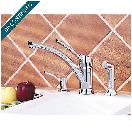 Polished Chrome Parisa 1-Handle Kitchen Faucet - T39-PNCC - 3