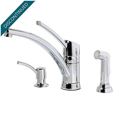 Polished Chrome Parisa 1-Handle Kitchen Faucet - T39-PNCC - 1