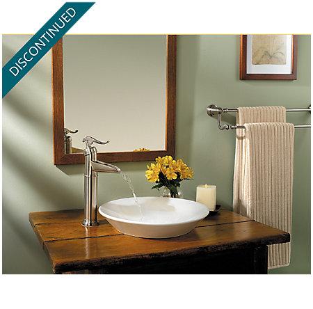 Brushed Nickel Ashfield Vessel, Single Control Bath Faucet - T40-YP0K - 2