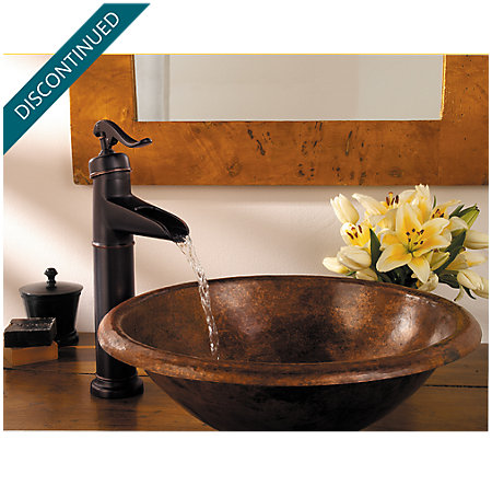 Tuscan Bronze Ashfield Vessel, Single Control Bath Faucet - T40-YP0Y - 3